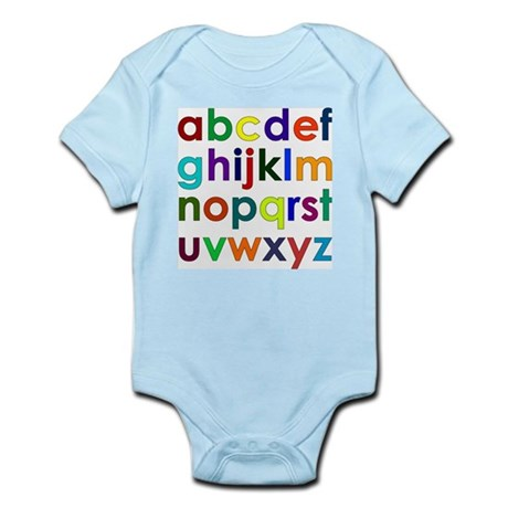 Colorful Alphabet Infant Creeper