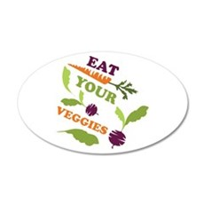 Eat You Veggies Wall Decal