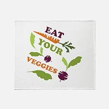 Eat You Veggies Throw Blanket