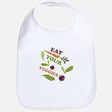 Eat You Veggies Bib