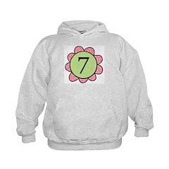 7 pink/green flower Hoodie