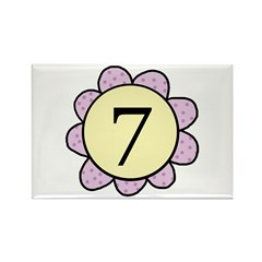 7 purple/yellow flower Rectangle Magnet