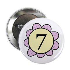 7 purple/yellow flower Button