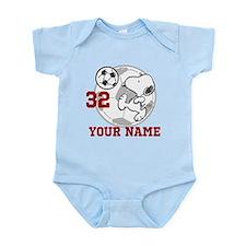 Snoopy Soccer - Personalized Infant Bodysuit