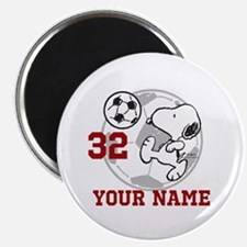 Snoopy Soccer - Personalized Magnet