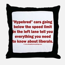 Hypebred Cars n Liberals Throw Pillow