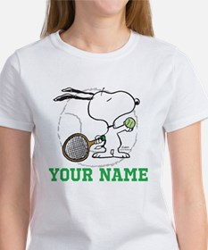 Snoopy Tennis - Personalized Tee
