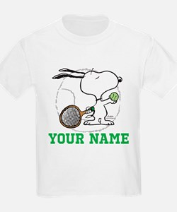 Snoopy Tennis - Personalized T-Shirt