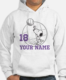 Snoopy Volleyball - Personalized Hoodie Sweatshirt