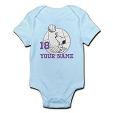 Snoopy Volleyball - Personalized Infant Bodysuit