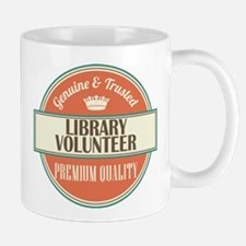 library volunteer vintage logo Mug