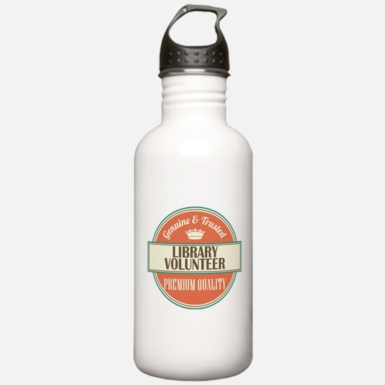 library volunteer vint Water Bottle
