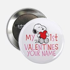"Snoopy - My 1st Vday 2.25"" Button"