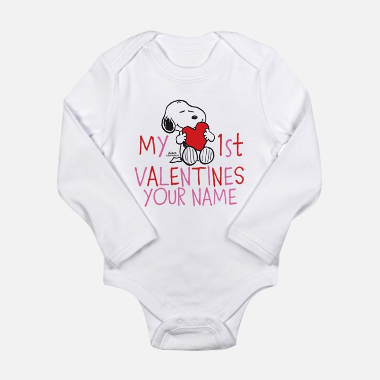 Snoopy - My 1st Vday Long Sleeve Infant Bodysuit