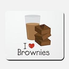 I Love Brownies Mousepad