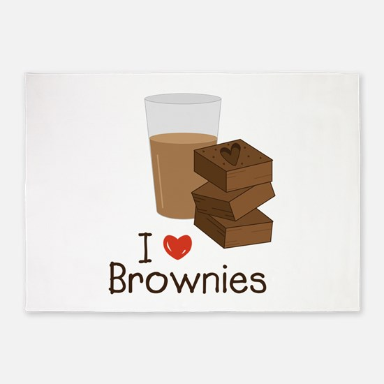 I Love Brownies 5'x7'Area Rug