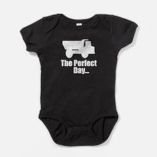 Dump Truck Baby Bodysuit