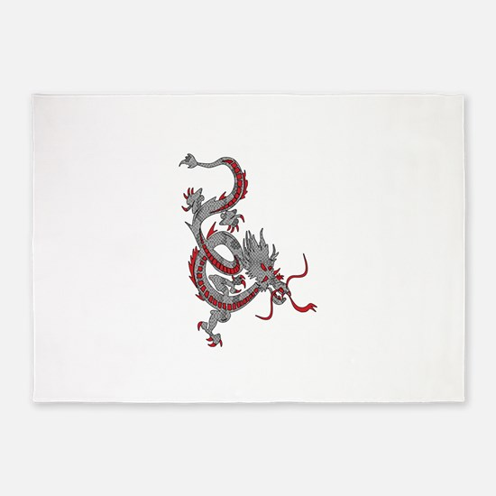 Chinese New Year Dragon 5'x7'Area Rug