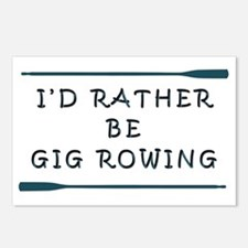 I'de rather be gig rowing Postcards (Package of 8)