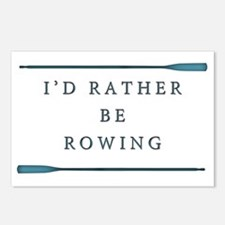 I'd rather be rowing Postcards (Package of 8)
