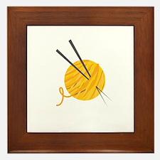 Knitting Yarn Framed Tile