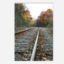 Railroad Tracks Autumn Postcards (Package of 8)