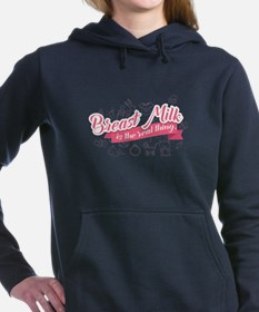 Cute Breast milk Women's Hooded Sweatshirt