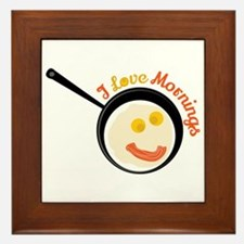 Love Mornings Framed Tile