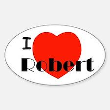 I Love Robert Oval Decal