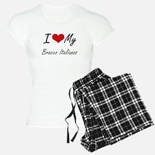 I Love my Bracco Italianos Pajamas