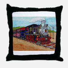 Cute Steam engine Throw Pillow