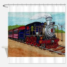 Funny Train Shower Curtain