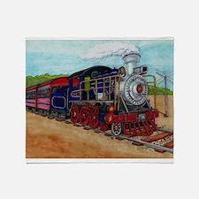 Cute Railroad train Throw Blanket