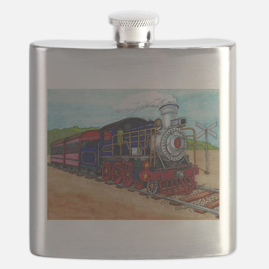 Cute Steam engine Flask