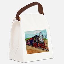 Cute Steam engine Canvas Lunch Bag