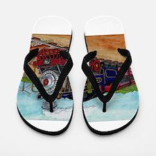 Cute Train Flip Flops