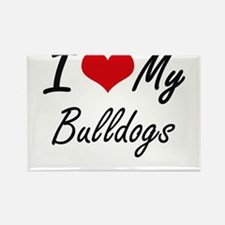 I Love my Bulldogs Magnets