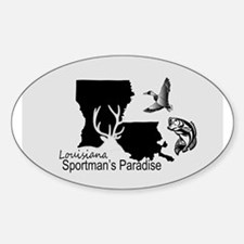 Louisiana Silhouette Sportman's Paradise Decal