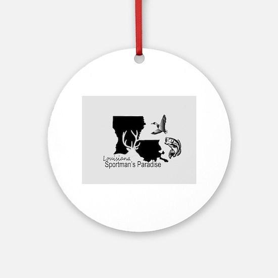 Louisiana Silhouette Sportman's Par Round Ornament