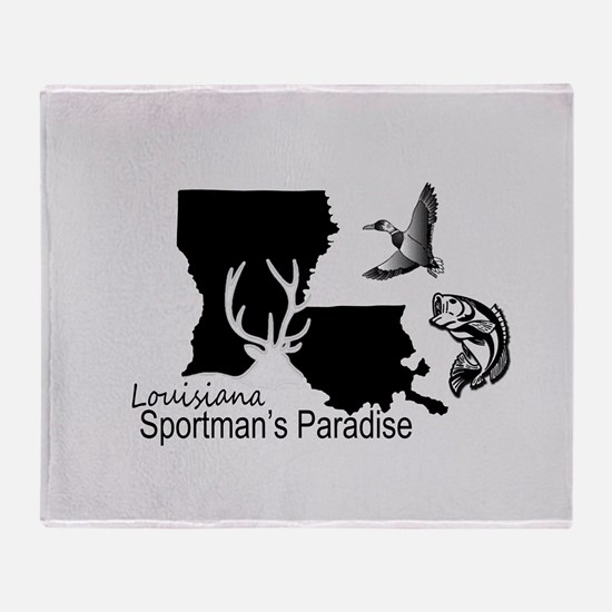 Louisiana Silhouette Sportman's Para Throw Blanket