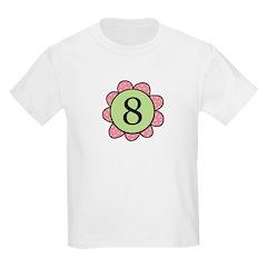 8 pink/green flower T-Shirt