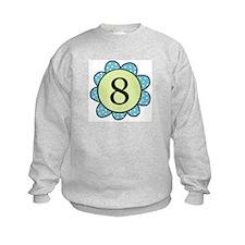 8 blue/green flower Sweatshirt