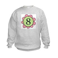 8 pink/green flower Sweatshirt
