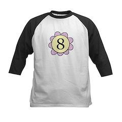8 purple/yellow flower Kids Baseball Jersey