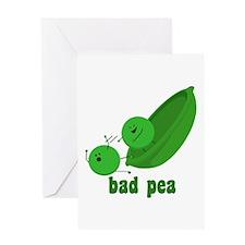 Bad Pea Greeting Card
