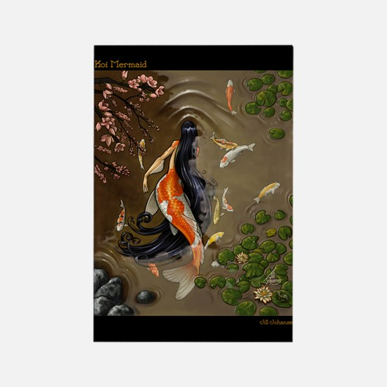 Koi Mermaid Rectangle Magnet