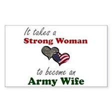 Strong Woman A Rectangle Decal