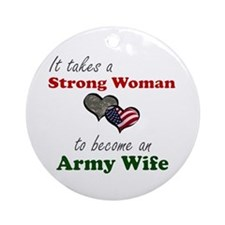 Strong Woman A Ornament (Round)
