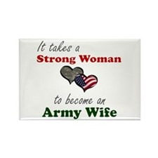 Strong Woman A Rectangle Magnet