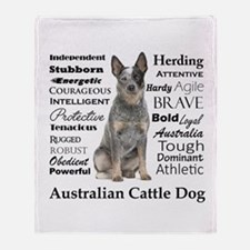 Cattle Dog Traits Throw Blanket